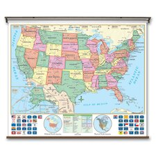 <strong>Universal Map</strong> Essential Wall Map - United States