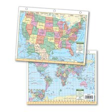US & World Notebook Maps