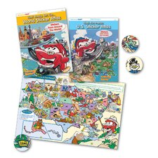 Kids' Fun Places U.S. Sticker Atlas