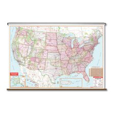 Large Scale Wall Map - United States