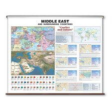 Large Scale Wall Map - Middle East