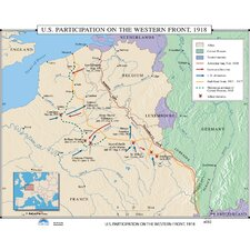 U.S. History Wall Maps - U.S. Participation on Western Front