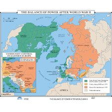 U.S. History Wall Maps - Balance of Power after WWII