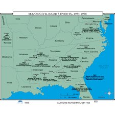 U.S. History Wall Maps - Major Civil Rights Events