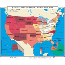 U.S. History Wall Maps - Native American Tribal Distribution