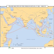 World History Wall Maps - Trade Routes in the Indian Ocean