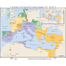 World History Wall Maps - Europe & Byzantine Empire