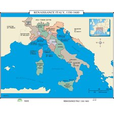 World History Wall Maps - Renaissance Italy