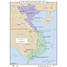 World History Wall Maps - Vietnam War 1964-75