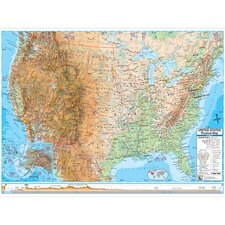 United States Advanced Physical Mounted Wall Map
