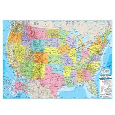 United States Advanced Political Mounted Wall Map