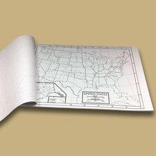U.S. Outline Map Pad