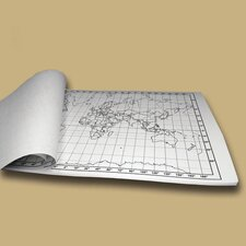 World Outline Map Pad