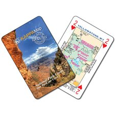 U.S. National Park Map Playing Cards
