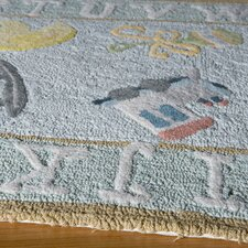 Classic Baby Blue Kids Rug