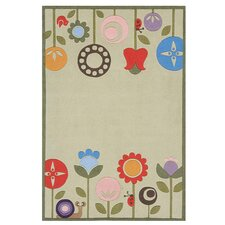 Whimsy Grass Ivory Area Rug I