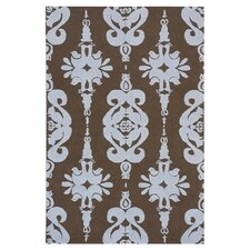 Classic Brown / Baby Blue Area Rug
