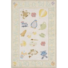 Classic Pale Yellow Kids Rug