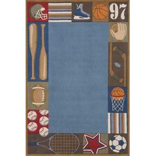 Whimsy Denim Blue Area Rug