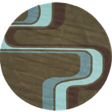 Hipster Army Green Kids Rug
