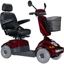 "PF2 Bolero Medium-Sized Heavy Duty 4 Wheel Electric Power Scooter with 18"" Captain Seat Top Speed 6.25 mph in red"