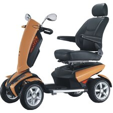 Vita Electric Luxury Power Scooter 4 Wheel with Independent Suspension LED Lights LCD Control  -  9 MPH
