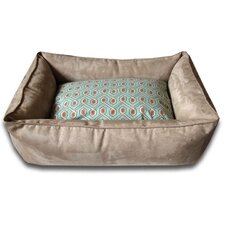 Diamond Easy-Wash Cover Back Donut Dog Bed