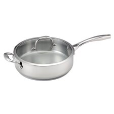 <strong>Guy Fieri</strong> 5-qt Deep Stainless Steel Saute Pan with Lid