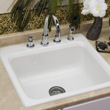 "Advantage Series 25"" x 22"" Phenix Single Bowl Self Rimming Kitchen Sink"