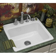"<strong>CorStone</strong> Advantage Series 25"" x 22"" Hopkinton Single Bowl Self Rimming Kitchen Sink"