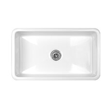 "Optimum Series 31"" x 18"" Bradford Single Bowl Undermount Commercial Self Rimming Kitchen Sink"