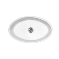 "Optimum Series 29.5"" x 18.25"" Geneva Oval Single Bowl Undermount Kitchen Sink"