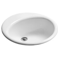 Advantage Series Columbia Self Rimming Oval Bathroom Sink