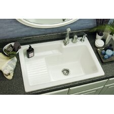 "Advantage Series Hamilton 33"" x 22"" Self Rimming Laundry Sink"