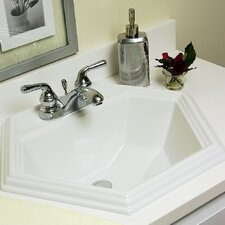<strong>CorStone</strong> Advantage Series Edgefield Self Rimming Hexagon Bathroom Sink