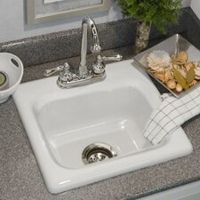 "Advantage Series 16.5"" x 15.5"" Warren Retangular Self Rimming Prep Bar Sink"
