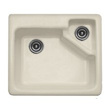 "Advantage Series 25"" x 22"" Quidnick Single Bowl Self Rimming Kitchen Sink"
