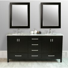 "72"" Malibu Double Sink Vanity Set"