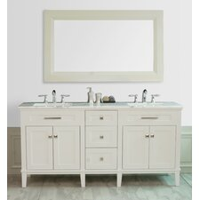 "Christine 72"" Double Sink Bathroom Vanity Set"