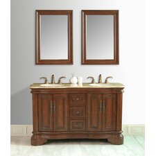 "Moscone 58"" Double Sink Bathroom Vanity Set"