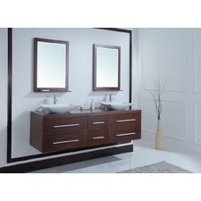 "<strong>Stufurhome</strong> 72"" Calliope Double Sink Vanity Set"