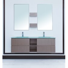 "<strong>Stufurhome</strong> 60"" Avaya Double Sink Vanity Set"