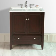 "31"" Expresso All-in-One Laundry Single Sink Vanity"