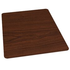Wood Veneer Style Hard Floor Straight Edge Chair Mat