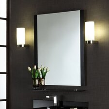 Metal C Mirror with Shelf
