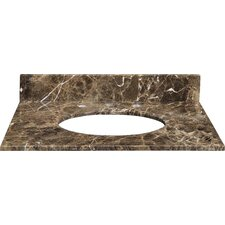 "25"" Marble Vanity Top for Undermount Sink with Backsplash"