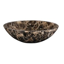 Round Marble Vessel Bathroom Sink