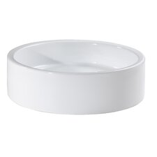 Cylinder Vitreous China Vessel Bathroom Sink