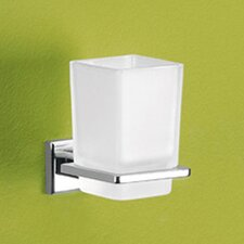 Colorado Toothbrush Holder with Frosted Glass Container