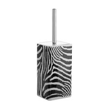 <strong>Gedy by Nameeks</strong> Safari Toilet Brush Holder in Black and White Zebra Print